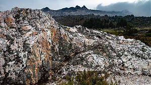 quartz rock formation, serra da estrela, portugal picture